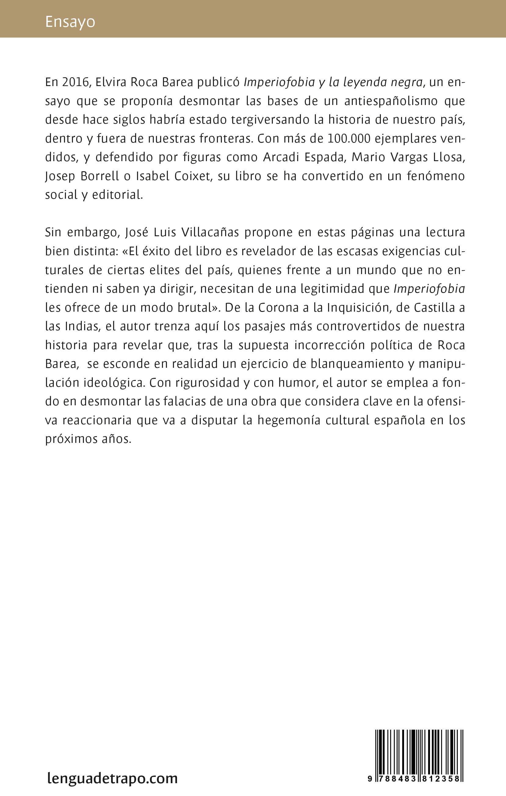 Imperiofilia y el populismo nacional-católico. José Luis Villacañas.  Desmontando Imperiofobia, el ensayo español ...